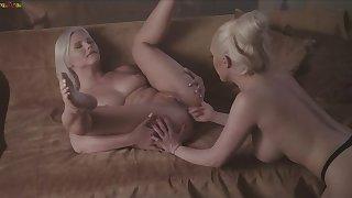 MixedX: Superb Christina Board increased by her randy slave Zazie Skymm lesbian experience on PornHD