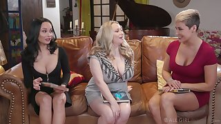 MILF infuse party close by the man Ryan Keely is turned into lesbian threesome