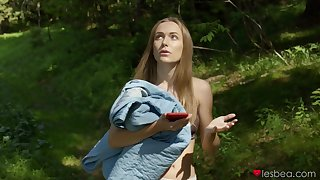 Zazie Skymm and her blonde friends enjoy having outdoors copulation