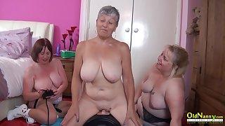 OldNannY Three British Matures added to Sex Machine