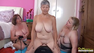 OldNannY Three British Matures and Sexual connection Machine
